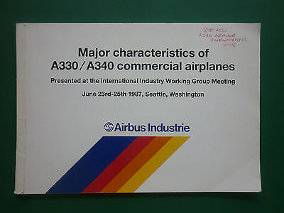 1987 Major Characteristics Of Airbus Industrie A330 A340 Commercial Airplanes