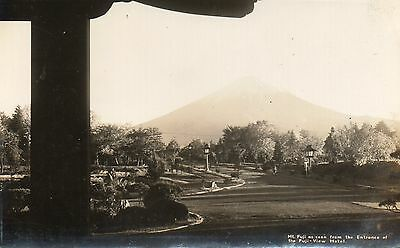 RPPC-MT FUJI AS SEEN FROM THE ENTRANCE TO FUJI-VIEW HOTEL,JAPAN