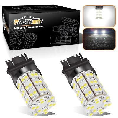 10pcs White 3157//3156 3757 4114 6000K Xenon 60 SMD LED Daytime Running Bulb