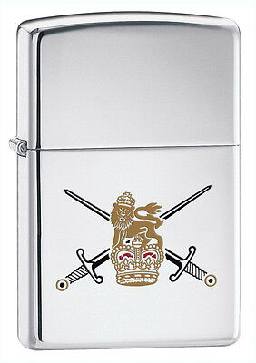 Zippo Lighter British Army High Polished Chrome Personalised Engraved Free