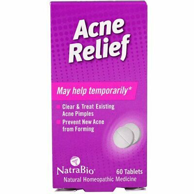 NatraBio, Acne Relief, Homeopathic Formula for Rosacea, x60tabs