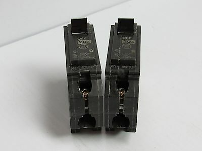 LOT OF 2 GE General Electric  Breaker THQL THQL1120 20A 20 A Amp 1 Pole 1P 120V