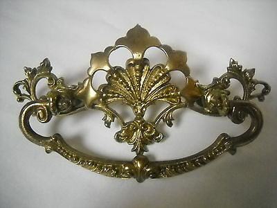 "Antique Cast Brass Victorian Drawer Pull 3"" Centers"