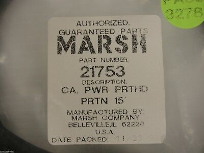 New Marsh Videojet 21753, 15' Power Cable