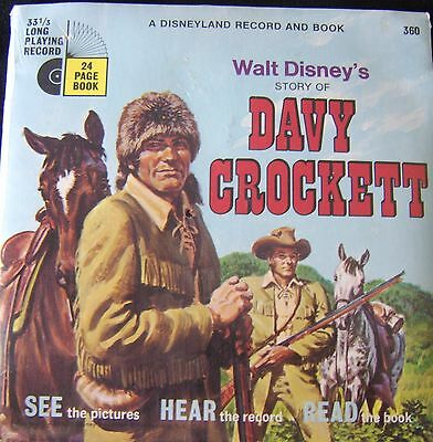 Story Of Davy Crockett 33 1/3 Record +24 Page Book New In Sealed Pack.