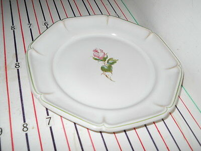 "Gien Rose Pattern Salad Plate 7 1/2""  Works With Lorraine Rose Green"