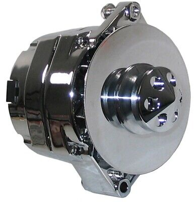 New Powermaster Alternator,Chrome,12Si,140Amp,Buick,Cadillac,Olds,Regal,Deville