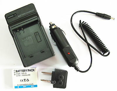 Battery+Charger for Canon PowerShot D10 D20 SD1200IS SD1300IS S90 Digital Camera