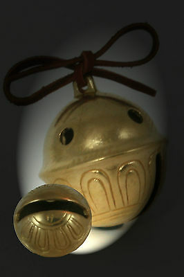 Polar Bear Express Bell # 7 Brass Sleigh Bell Have a 7 yr old? all sizes avail.