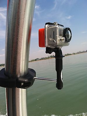Wakeboard Boating Camera mount for GoPro. Mounts to any Tower with any Camera