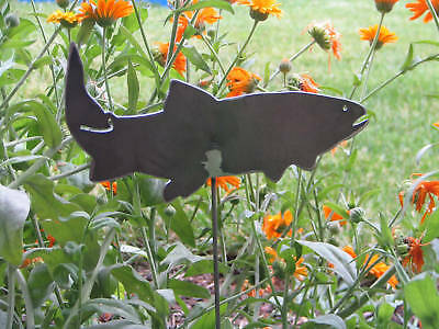 Fish Garden yard art cutthroat trout creek metal stake