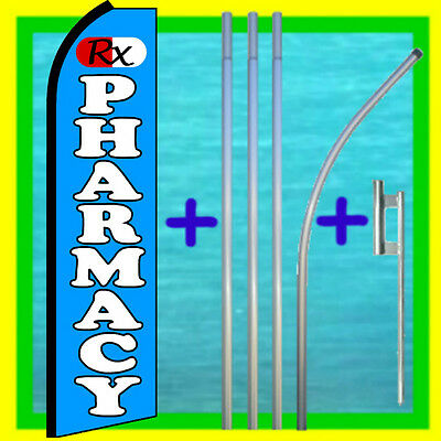 PHARMACY Prescriptions Sale Swooper Flag Tall Feather Bow Flutter Banner Sign