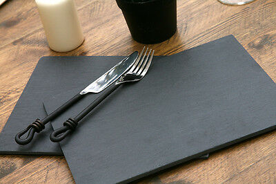 Set of 12 HIGH QUALITY 100% Natural Slate PLACEMATS Table Mats BY CREATIVE TOPS