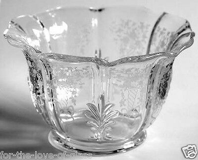Crystal Fostoria Corsage Baroque Mayonnaise, (Bowl Only)
