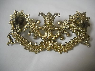 "Antique Victorian Cast Brass Drawer Pulls 3"" Centers Ornate"
