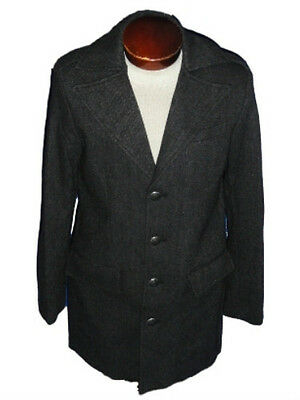 NEW! KENNETH COLE STYLISH REACTION Wool Coat Mens S/Small Black/Gray  $219  NWT!