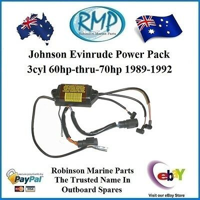 A Brand New Evinrude Johnson Power Pack 3cyl 60hp-70hp 1989-1992 # 583748