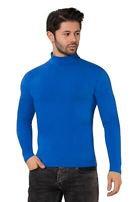 Men's  Roll / Polo Neck Good Quality Long-Sleeve Cotton Tops