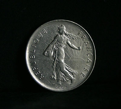 The Seed Sower France 1993-5 Francs Nickel Clad Copper-Nickel Coin
