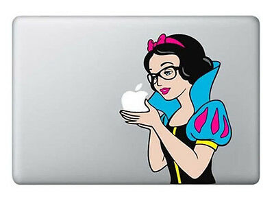 Nerd Snow White Glasses Macbook Air/Pro/Retina 13 Vinyl Sticker Skin Decal Cover