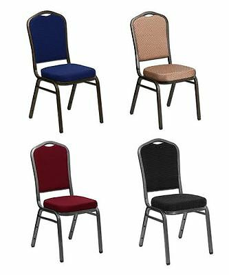Poker Chairs: durable, stackable, comfortable, choice of fabric & leg colors