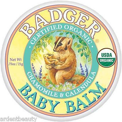 Badger Certified Organic Natural Soothing Baby Balm Ointment Small .75 oz tin