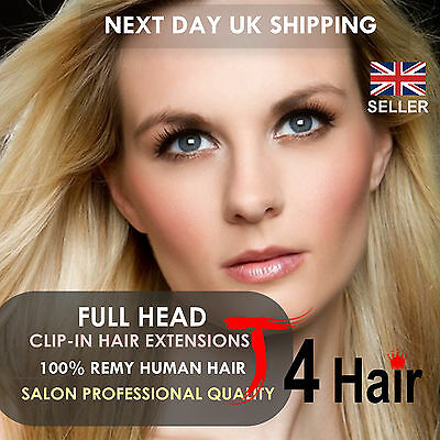 Thick Deluxe & Standard Clip In Remy 100% Real Human Hair Extensions Full Head