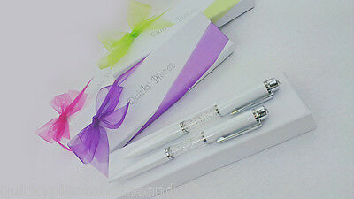Wholesale Lot Of Gift Pens With GIFT BOXES Crystal Pen Clear Crystal Gift Pens