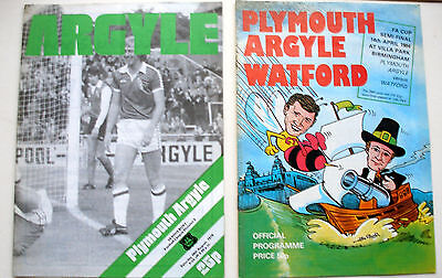 Plymouth v Watford & Bury Football Programmes (845)