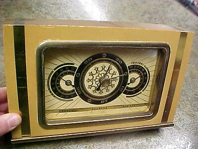 BS4 RARE! Seeger's Seegers Thermometer Barometer Weather station forecaster