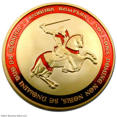 Gold Knights Templar Coin 1 Troy Oz. Collectible 24k Gold Clad Art Series Round