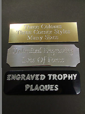 Engraved Trophy Award Plaque Football Plate Picture Filmcell Many Sizes & Styles