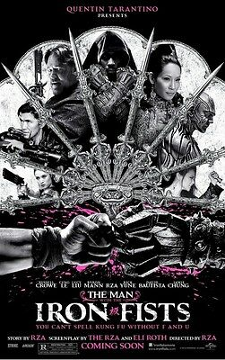 MAN WITH IRON FISTS MOVIE POSTER ~ FAN ADVANCE ORIGINAL 27x40 Rza Russell Crowe