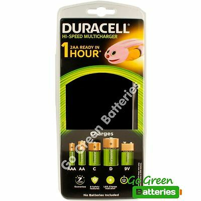 Duracell Universal Multi Charger - AA AAA C D & 9V rechargeable batteries CEF22