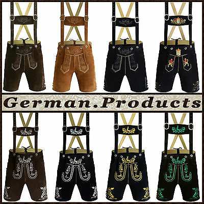 Lederhosen authentic german bavarian oktoberfest trachten mens short lederhosen