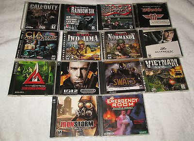 Computer Game Lot_Action_Call of Duty_Elite Forces_Hitman_Delta Force_More!