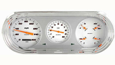 Classic Instruments 63-65 Chevy Nova Package Gauge Cluster Dash (Velocity White)