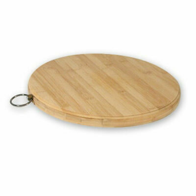 Chopping / Cutting Board Bamboo Round 250mm Wood-Look Serving Cafe Restaurant