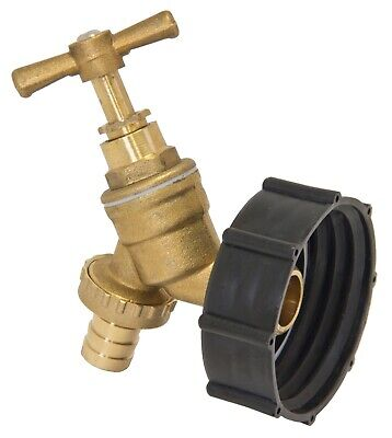 "IBC CAP(S60X6 2"") & BRASS TAP to 13 mm (1/2"") Hose Tail"