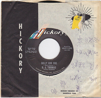 B.J. THOMAS And The Triumphs - Billy And Sue/Never Tell