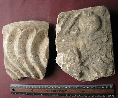 Authentic Ancient Artifact - Lot of CARVED MARBLE STONES       9644