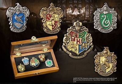 Noble Collection Harry Potter - Hogwarts House Pins with Collectors Box NN7374