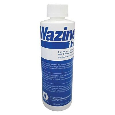 WAZINE 17% Piperazine for the removal of worms in Turkeys and Chickens 8OZ