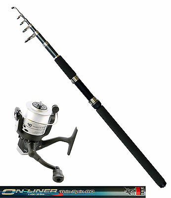 DAM Angelset Rute Onliner Telespin 60 2,40m Angelrolle Quick Fighter 140FD