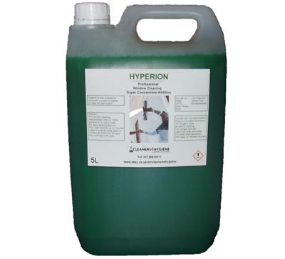 5L Pro Hyperion Concentrate Window Cleaning Liquid Additive Easy Squeegee Glide