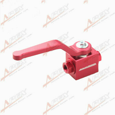 "Aluminum Brake Line Lock Shut Off Valve 1/8"" NPT Billet Valve Red"