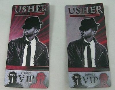 Usher OMG 2010 World Tour Pair VIP Section Commemorative Concert Tickets NWOT