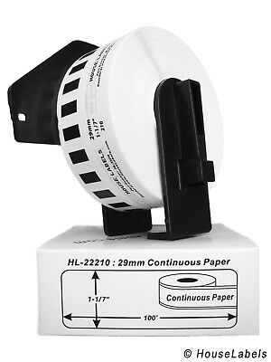 10 rolls of DK-2210 Brother-Compatible Labels with 1 Reusable Cartridge