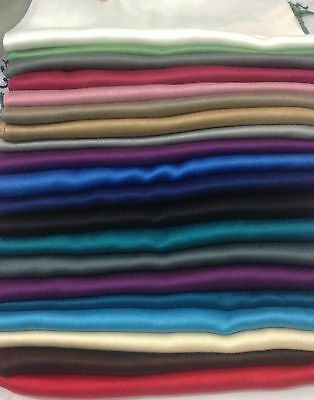 Plain Coloured New High Quality Silk Pashmina Feel Shawl / Scarf / Wrap