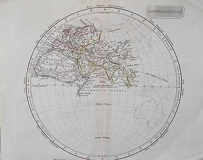Map of Ancient Eastern World Hemisphere. Arrowsmith. 1840. ASIA Original